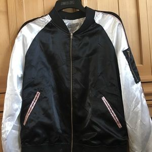Jackets & Blazers - Satin bomber jacket